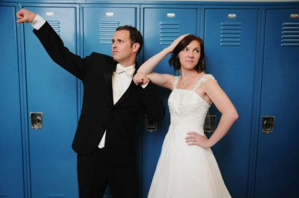 wedding by lockers