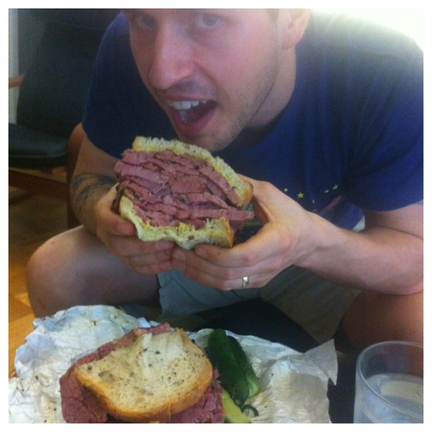 Cameron with pastrami